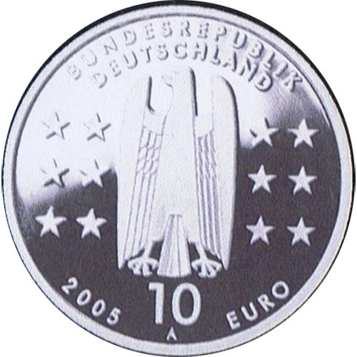 moneda Alemania 10 Euros 2005 A. Magdeburgo. Proof.