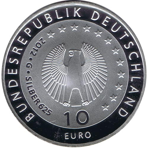 moneda Alemania 10 Euros 2012 G. Agro Acción Alemana. Proof