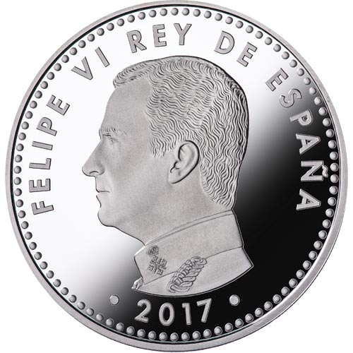 Moneda 2017 Turismo Sostenible. 10 euros Plata color.