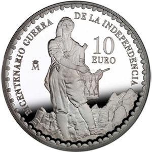 f4b0ad2a6b31 Moneda 2008 Bicentº Guerra Independencia Móstoles 10 euros Plata ...