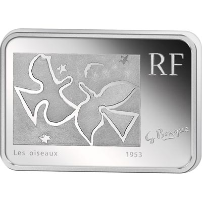 Francia 10 € 2010 Georges Braque. Plata Proof.