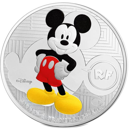 Francia 10 € 2016 Mickey à travers les âges. Plata color