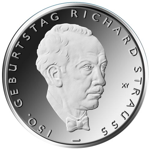 moneda Alemania 10 Euros 2014 D. Richard Strauss.