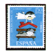 Spain stamps Year 1967