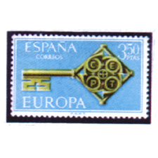Spain stamps Year 1968