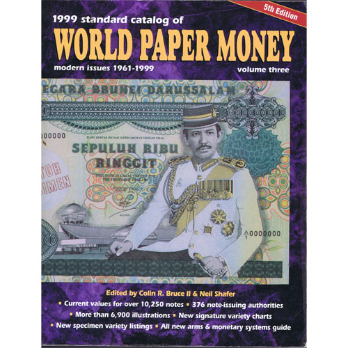 Catalogo billetes mundial WORLD PAPER 1961-1999. Edición 5.