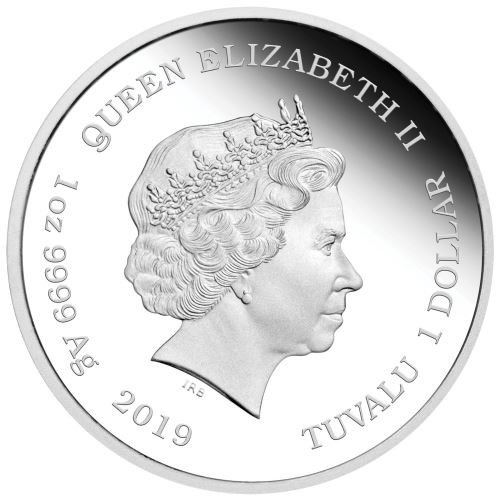 Moneda onza de plata 1$ Tuvalu Lisa Simpson 2019. Proof.