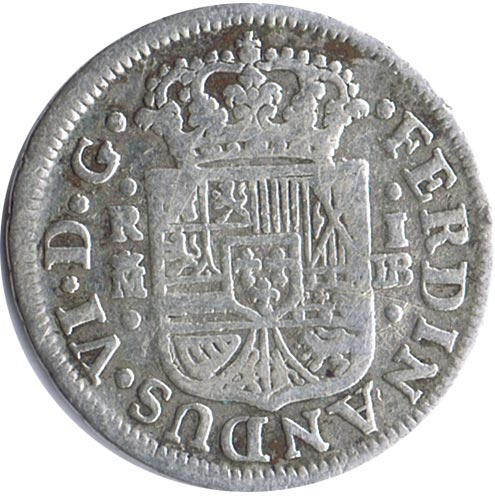 1 Real 1757 Fernando VI Madrid. Plata.