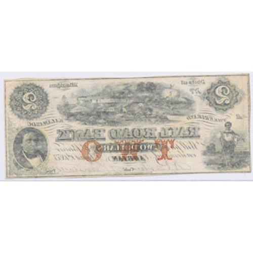Michigan. Adrian 2$ 1853. Rail Road Bank. SC.