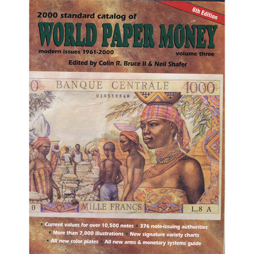 Catalogo billetes mundial WORLD PAPER 1961-2000. Edición 6