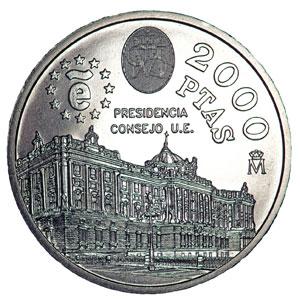 Colección Completa Monedas España 2000 Pesetas 1994 Al 2001 Tienda Numismatica Y Filatelia Lopez Compra Venta De Monedas Oro Y Plata Sellos Espa A Accesorios Leuchtturm