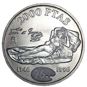 Moneda Conmemorativa 2000 Ptas 1996 Plata Tienda Numismatica Y Filatelia Lopez Compra Venta De Monedas Oro Y Plata Sellos Espa A Accesorios Leuchtturm