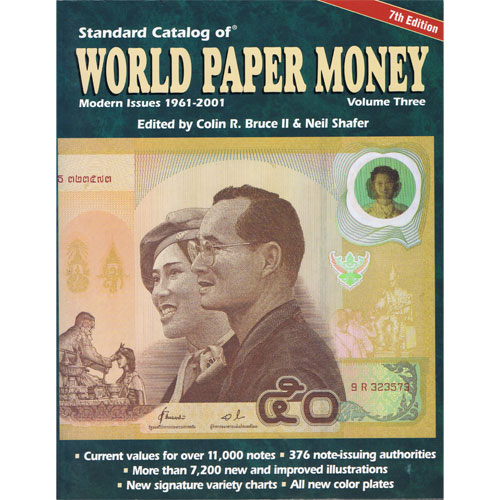 Catalogo billetes mundial WORLD PAPER 1961-2001. Edición 7