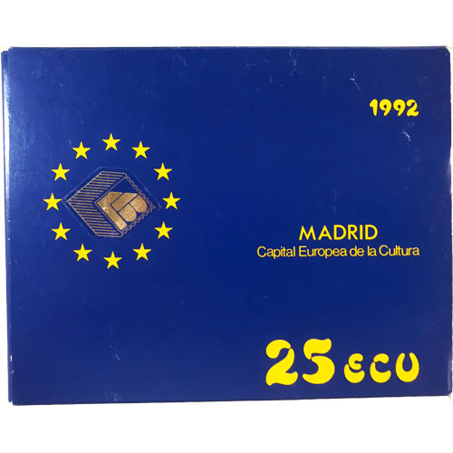 25 ECU Madrid Capital Europea de la Cultura 1992 Proof