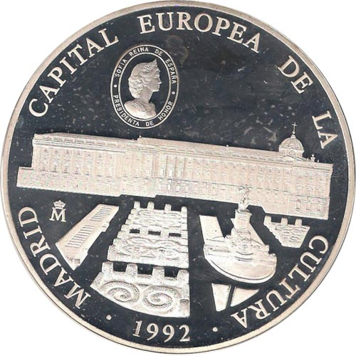 25 ECU. Madrid Capital Europea de la Cultura 1992. Proof.