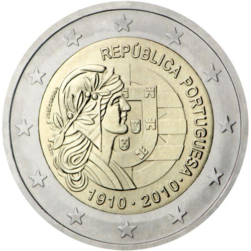 moneda conmemorativa 2 euros Portugal 2010. Proof