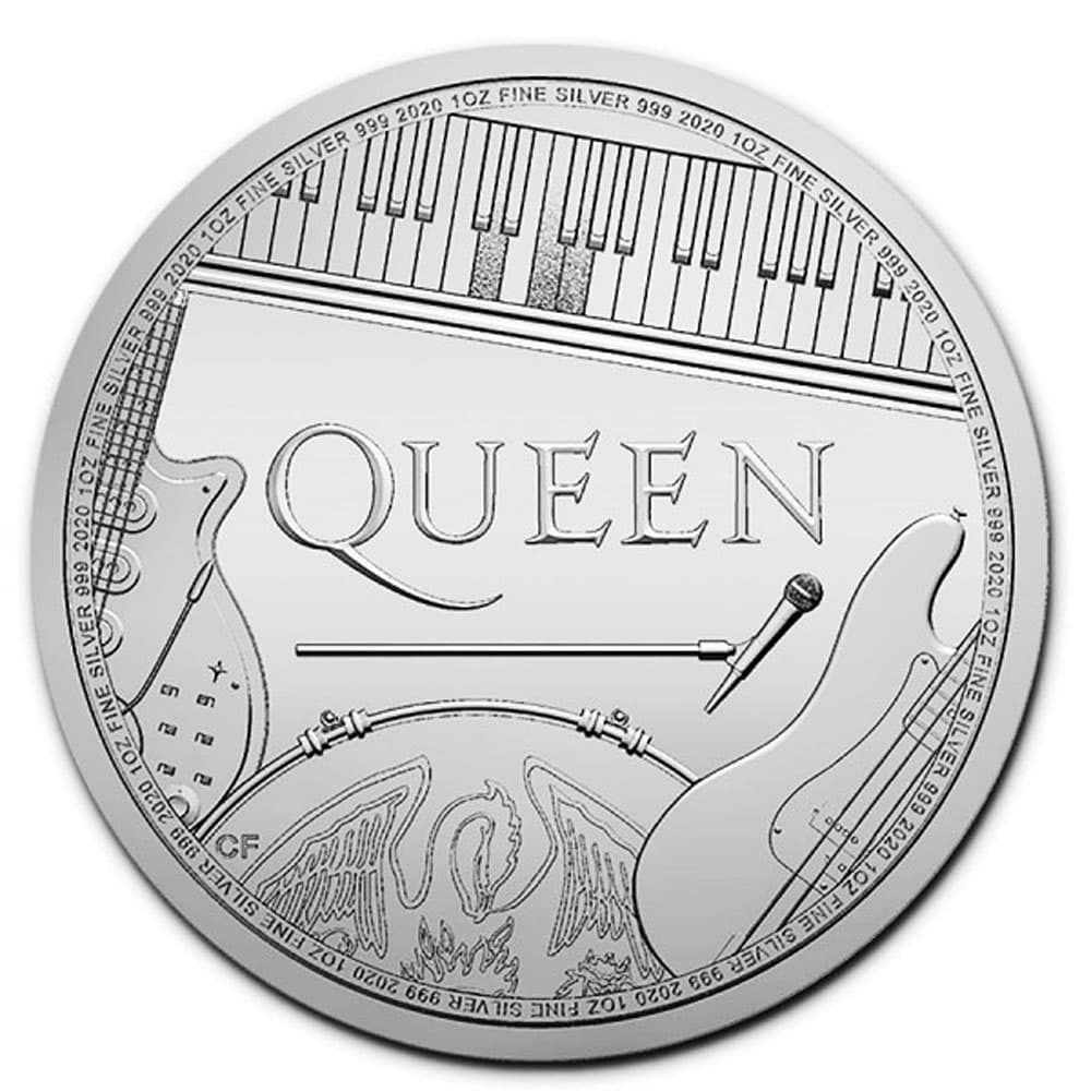 Moneda onza de plata 2 Pounds Gran Bretaña Queen 2020
