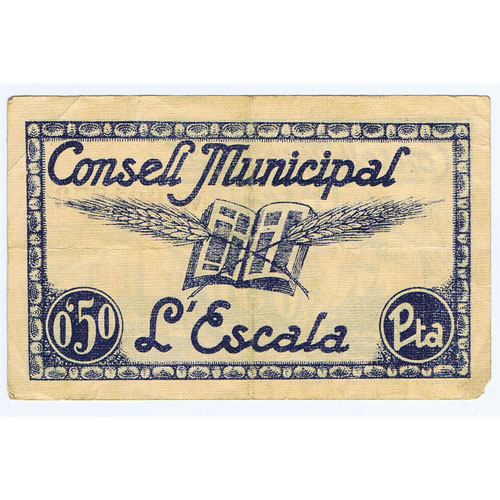 (1937) 50 centims Consell Municipal L'Escala