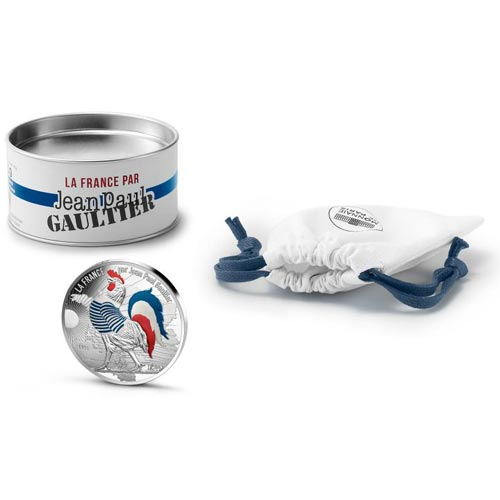 Francia 50€ 2017 Jean Paul Gaultier Gallo Marinero. Plata color.