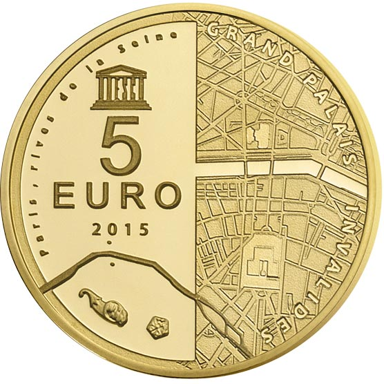 francia 5 euros en oro unesco invalidos y gran palacio l pez filatelia y numism tica. Black Bedroom Furniture Sets. Home Design Ideas