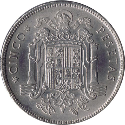 5 pesetas Franco 1949 *19-50 Madrid. SC.