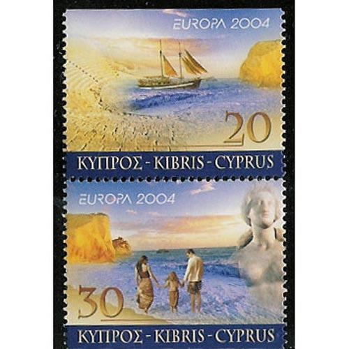 Europa 2004 Chipre (sello carnet)