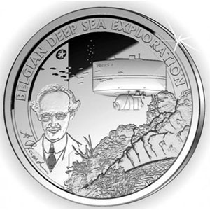 moneda Belgica 10 Euros 2011 Deep Sea Exploration(proof)