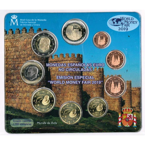 f339ffec8eb1 Cartera oficial euroset España 2019 (Emisión Berlín).