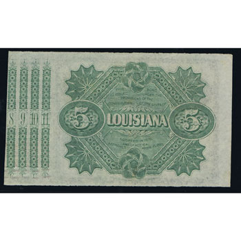 Louisiana. New Orleans 5$ 187x. Bond of Louisiana. SC.