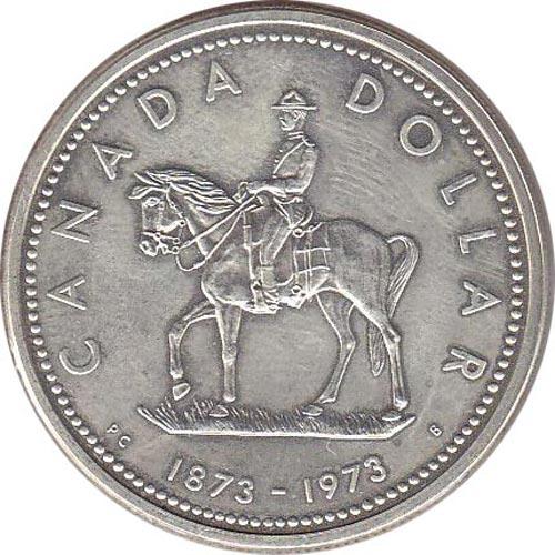 Canada 1 1973 100 Aniversario Policia Montada Plata