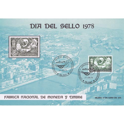 1978 Documento 5 Exfilna 78. Bilbao. Dia del Sello.