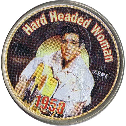 Moneda E.E.U.U. 1/4$ 2002 Elvis 1958 Hard Headed Woman