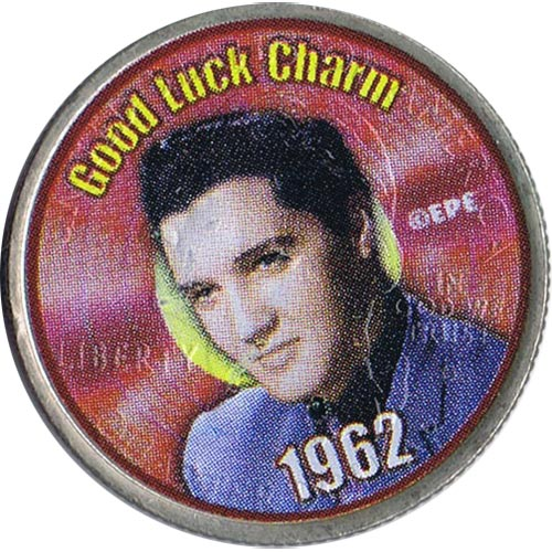 Moneda E.E.U.U. 1/4$ 2002 Elvis 1962 Good Luck Charm.