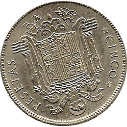 5 pesetas Franco 1949 *19-49. Madrid. MBC