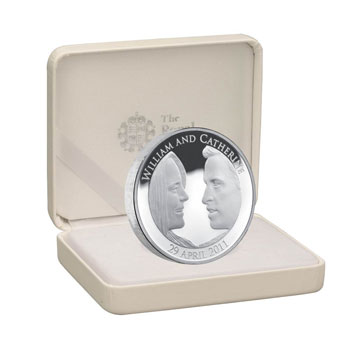 Moneda de plata Boda Real 5 Pounds Inglaterra 2011. Proof.
