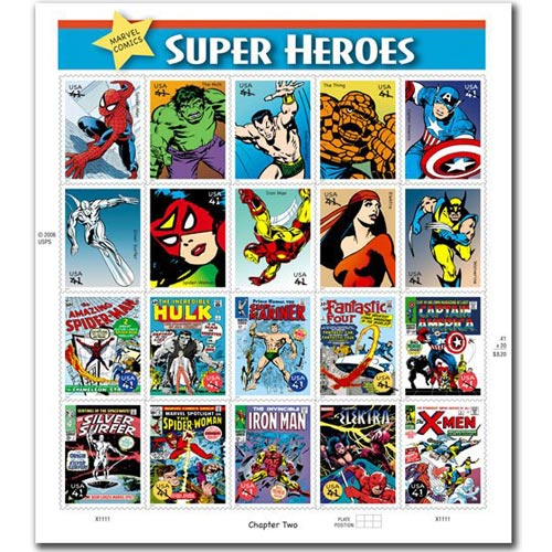 Comics. USA 2006 Marvel Super Heroes (20 sellos)