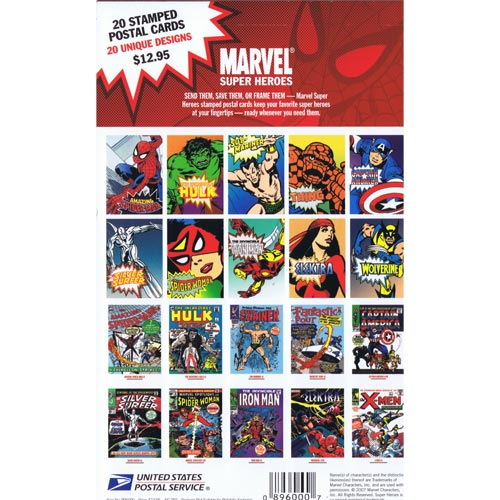 Comics. USA 2006 Marvel Super Heroes. 20 postales