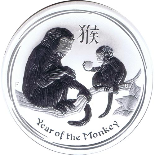 Coin silver 1$ Australia Year of de Monkey 2016.