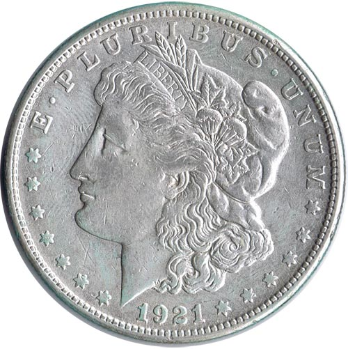 Moneda de plata 1$ Estados Unidos Morgan 1921 S.