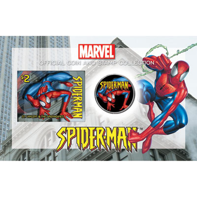 E.E.U.U. 1/2$ (2004) Spider-man + sello