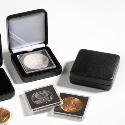 Estuche monedas metal NOBILE para capsula redonda 48mm.
