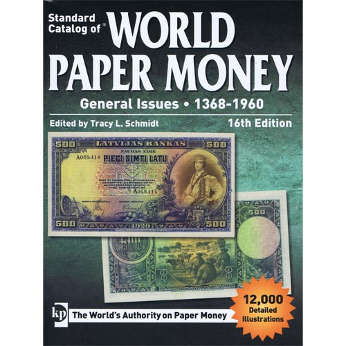 Catalogo billetes mundial WORLD PAPER 1368-1961. Edicion 16.