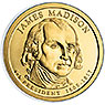 E.E.U.U. 1$ (2007) 4º Presidencial James Madison (2cecas)