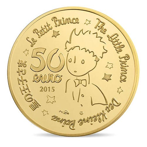 Francia 50€ 2015 Principito.The little prince. Las Estrellas. Or