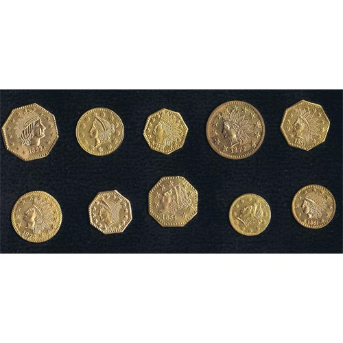 California Uncirculated Set Souvenir Gold Tokens (10)