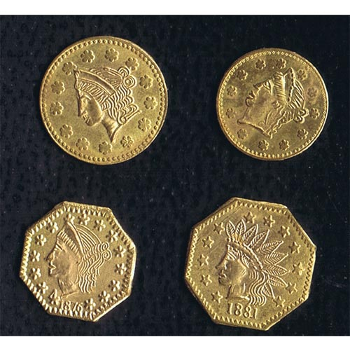 California Uncirculated Set Souvenir Gold Tokens (4)