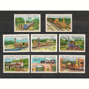 Trenes. Grenadines (nº cat. yvert 547/54)