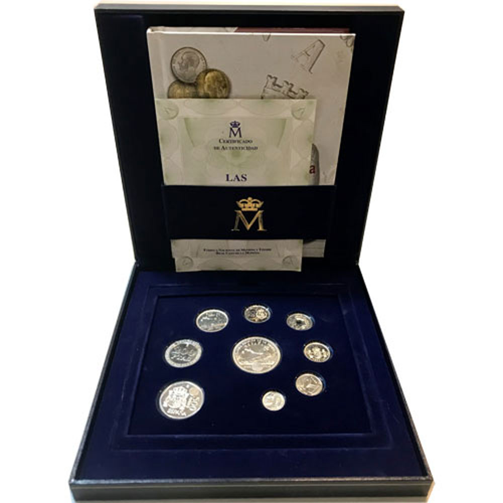 (2001) estuche ultimas pesetas de plata. Proof