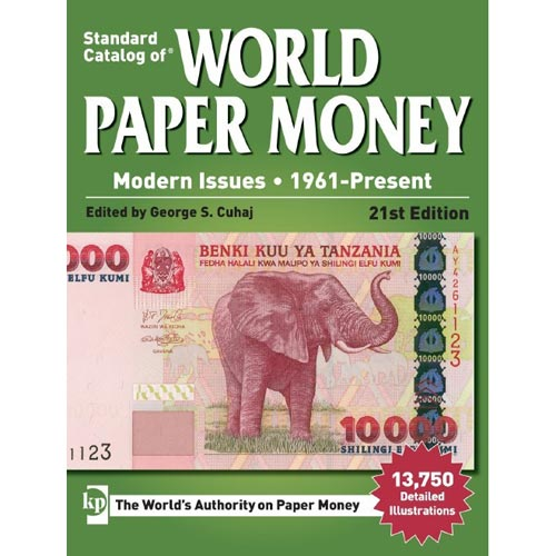 Catalogo billetes mundial WORLD PAPER desde 1961. Edicion 21.